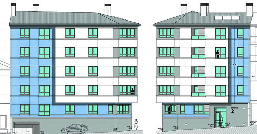 Edificio de viviendas en Mungia