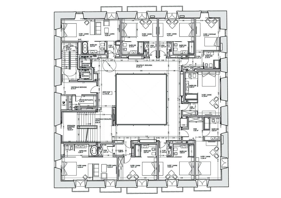 Rehabilitaci n bilbao y gallastegi arquitectos for Planos cocinas de hoteles